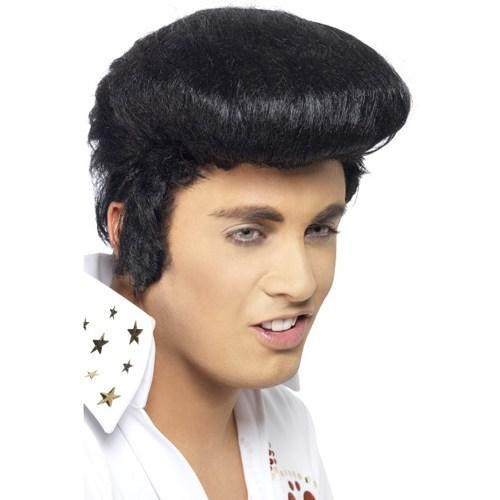 Deluxe Licensed Black Elvis Wig