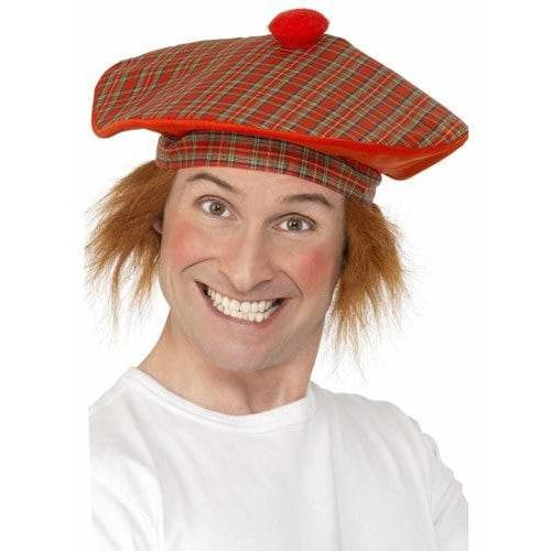 Deluxe Tam O Shanter Hat With Hair
