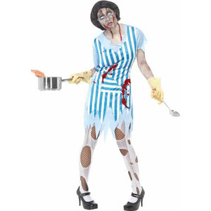 Zombie Dinner Lady Costume - mypartymonsterstore