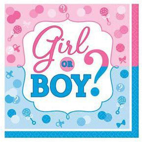 Gender Reveal Luncheon Napkins 16pk