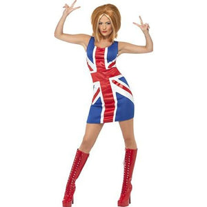 Ginger Power Union Jack Costume - mypartymonsterstore