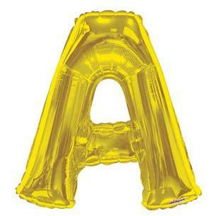 Gold Large Letter A Balloon