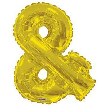 Gold Large Letter Ampersand Balloon