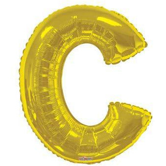 Gold Large Letter C Balloon