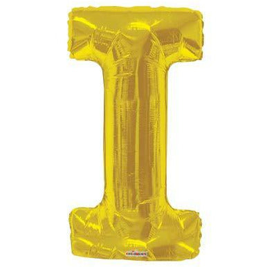 Gold Large Letter I Balloon