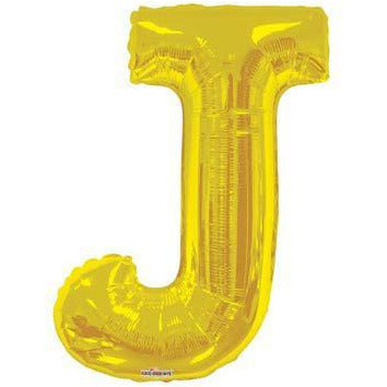 Gold Large Letter J Balloon