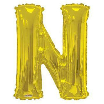 Gold Large Letter N Balloon