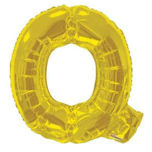 Gold Large Letter Q Balloon