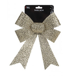 Gold Tinsel Bow