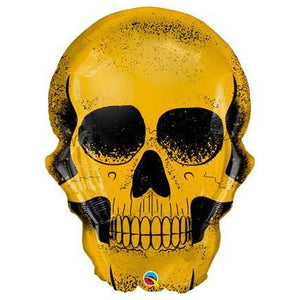 Golden Skull Supershape Balloons