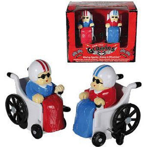 Wind Up Granny In A Wheelchair Figurine