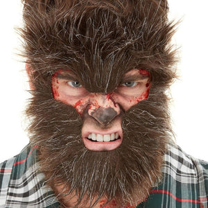 Werewolf Face Fur - mypartymonsterstore