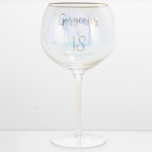 Gorgeous At 18 Happy Birthday Gin Glass