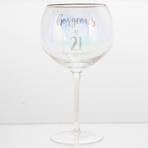 Gorgeous At 21 Happy Birthday Gin Glass