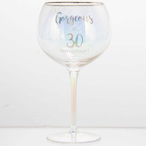 Gorgeous At 30 Happy Birthday Gin Glass