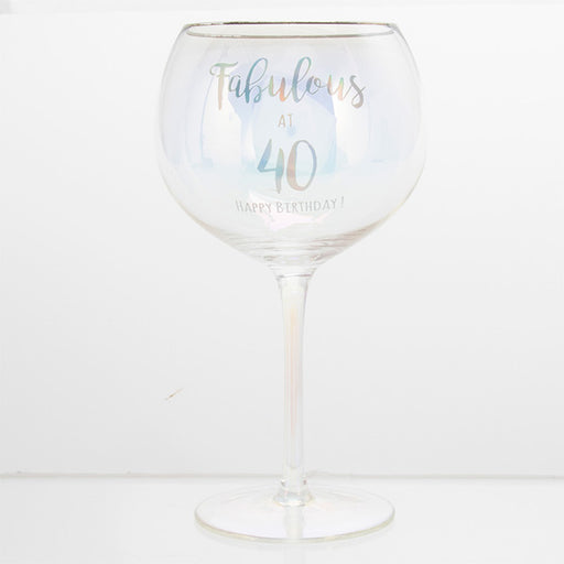 Fabulous At 40 Happy Birthday Gin Glass