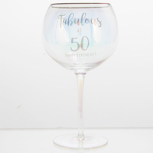 Fabulous At 50 Happy Birthday Gin Glass
