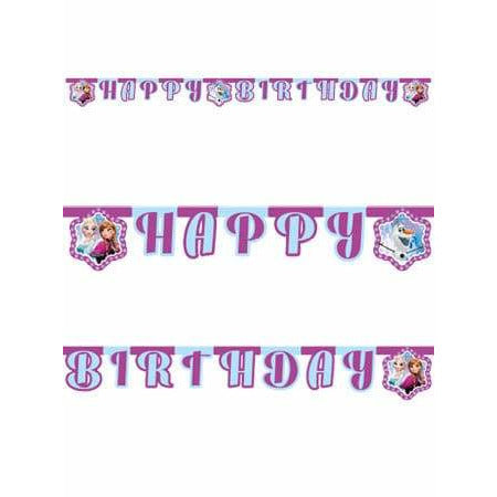 Frozen Happy Birthday Letter Banner