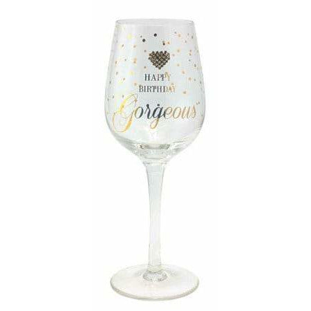 Happy Birthday Gorgeous Wine Glass