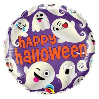 Halloween Emoticon Ghosts Foil Balloons