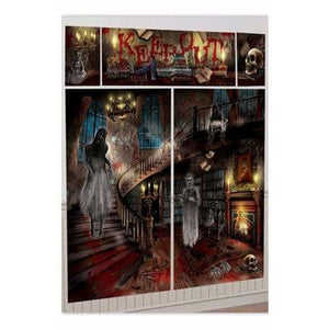Haunted House Wall Decorating Kit 5pk - mypartymonsterstore