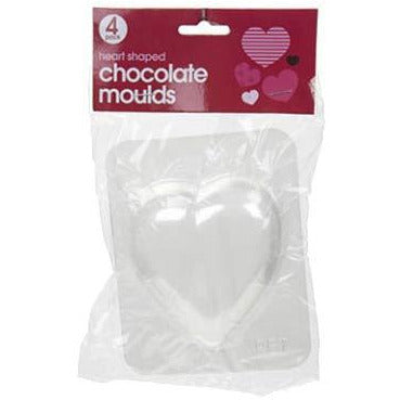 Heart Shaped Chocolate Moulds 4pk