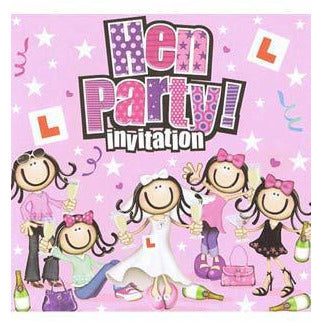 Hen Party Card Invitations