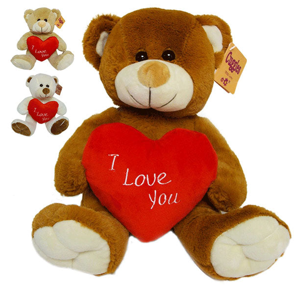 "10"" I Love You Heart Bear Plush"
