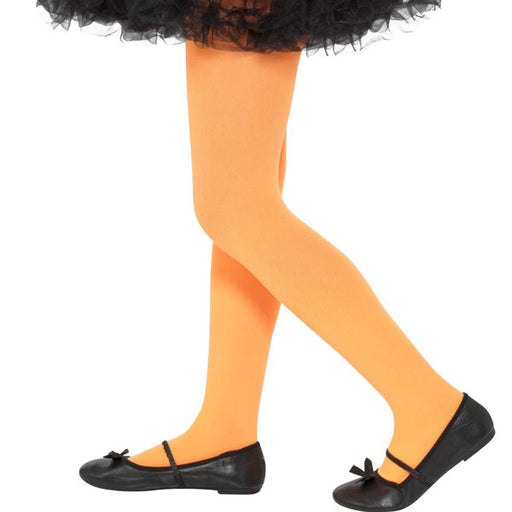 Kids Orange Opaque Tights