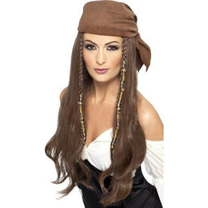 Ladies Brown Pirate Wig