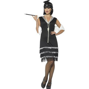 Fringed Black Flapper Costume