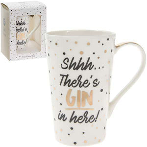 Shhh...There's Gin In Here! Gold Mug - mypartymonsterstore