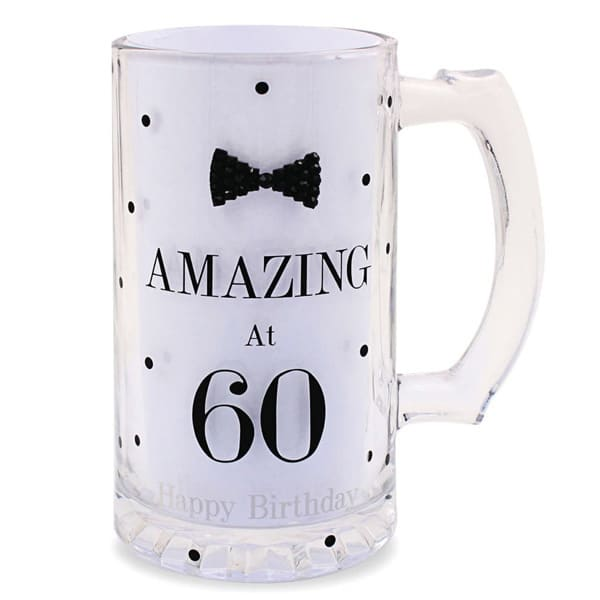 Mad Dots Black Tie 60th Birthday Tankard