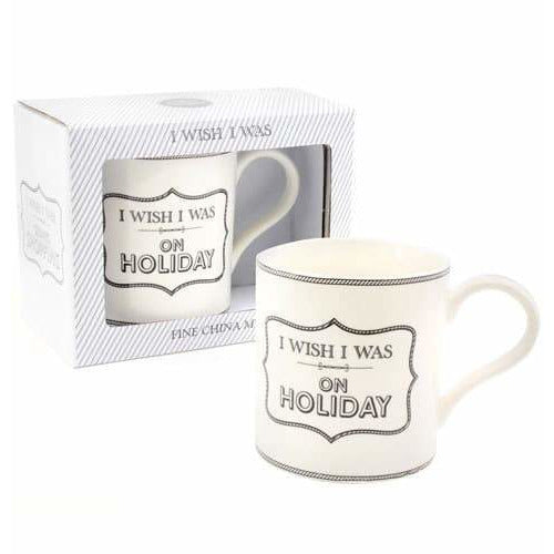 I Wish I Was On Holiday Mug