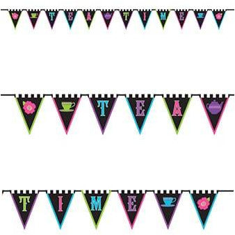 Mad Tea Party Fabric Bunting