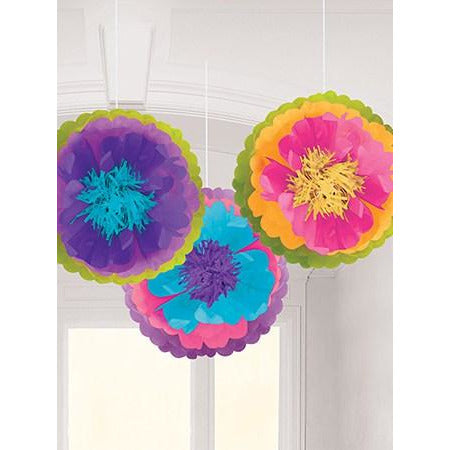 Mad Tea Party Fluffy Decorations 3pk