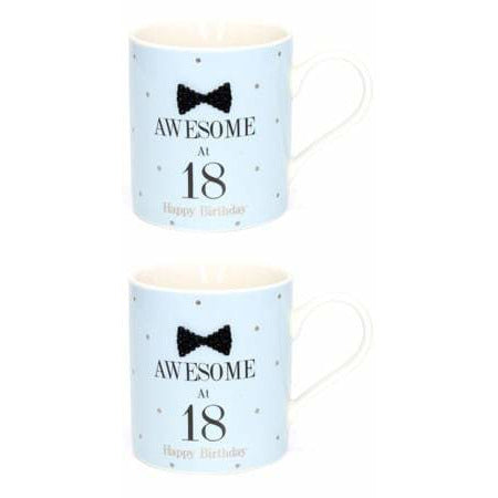 Mad Dots Black Tie 18th Birthday Mug