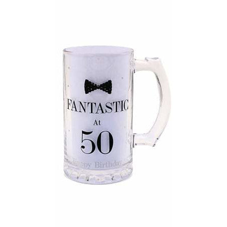 Mad Dots Black Tie 50th Birthday Tankard