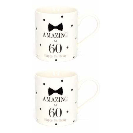 Mad Dots Black Tie 60th Birthday Mug