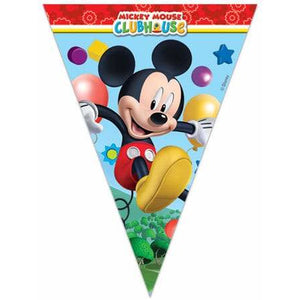 Mickey Mouse Playful Party Flag Banner