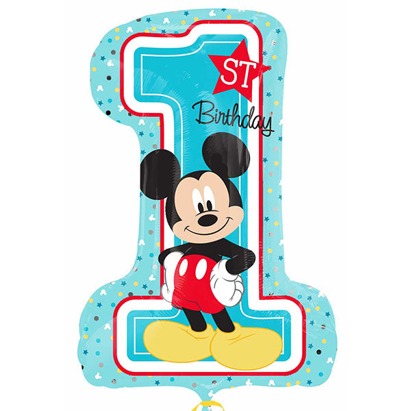 Mickey Mouse 1st Birthday Supershape Balloons