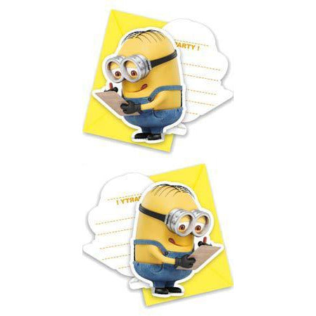 Lovely Minions Party Invitations