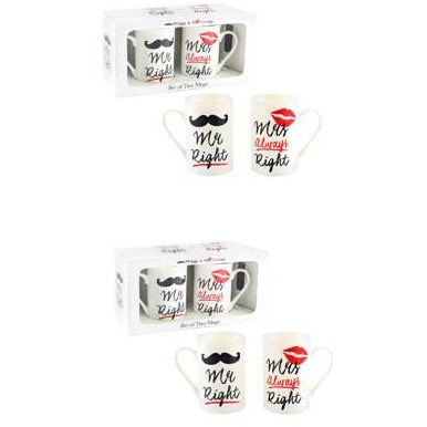 Mr And Mrs Always Right Mug Set
