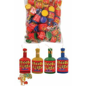 Multi Coloured Party Poppers 60ct