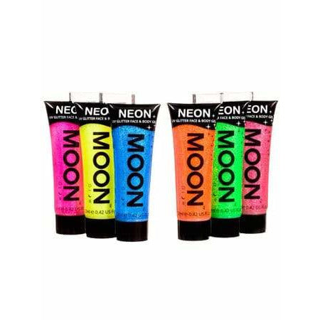 Neon UV Glitter Face And Body Gels