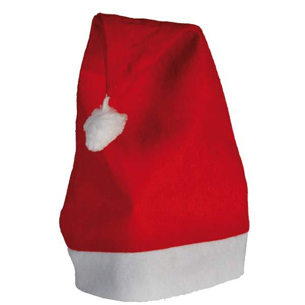Red Christmas Santa Hat With White Trim