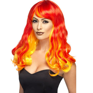 Devil Flame Ombre Wig