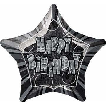 Happy Birthday Glitz Foil Balloon