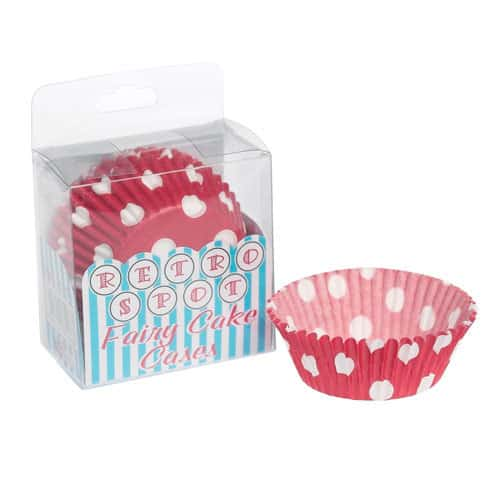Red And White Polka Dot Cupcake Cases x72