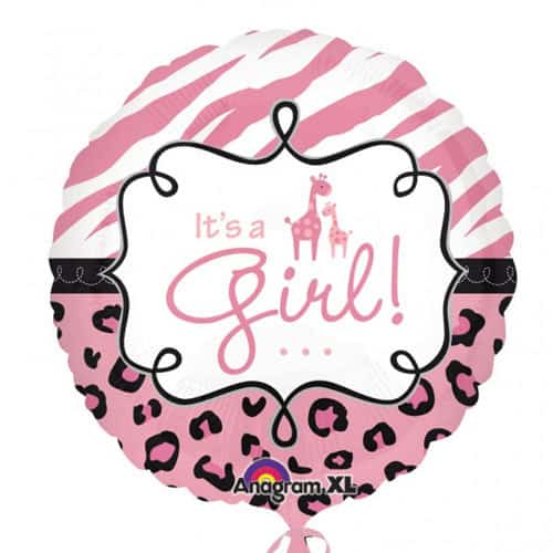 Safari Baby Girl Foil Balloon